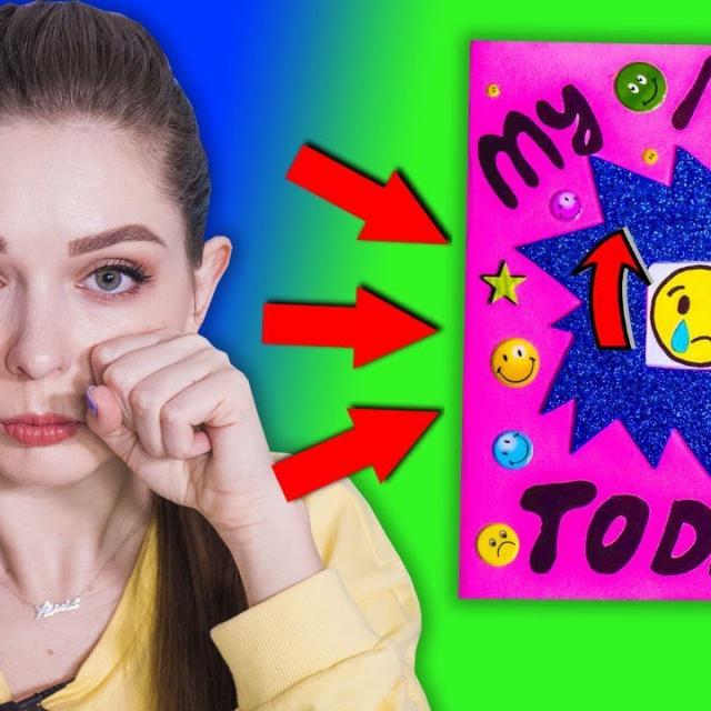 Афинка Diy Блокнот НАСТРОЕНИЯ / Меняй Emoji под настроение! Цвет настроения  ̶с̶и̶н̶и̶й̶  желтый