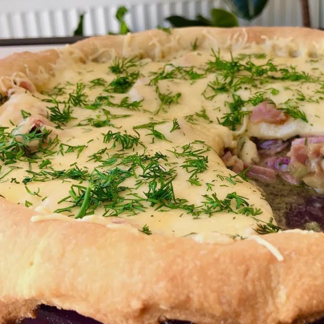 Ольга Матвей  -  Открытый Пирог с Беконом и Сыром | Bacon Pie Recipe