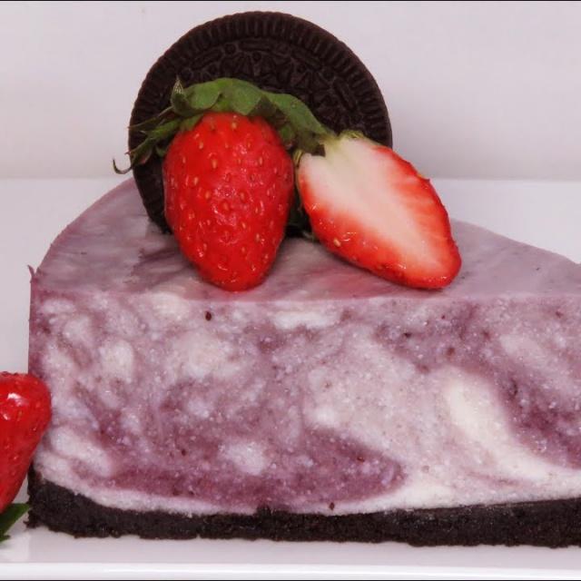 Торт Мраморный Творожно -Ягодный без Выпечки Безумно Вкусный и Нежный | Рецепт Позитивная Кухня