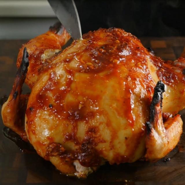 Курица в духовке - Как приготовить дома до золотистой корочки   Рецепт Славного Друже