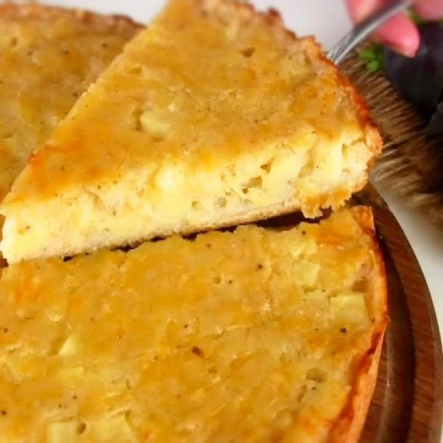 Картофельный пирог на кефире - сытный вкусный и простой | VIKKAvideo