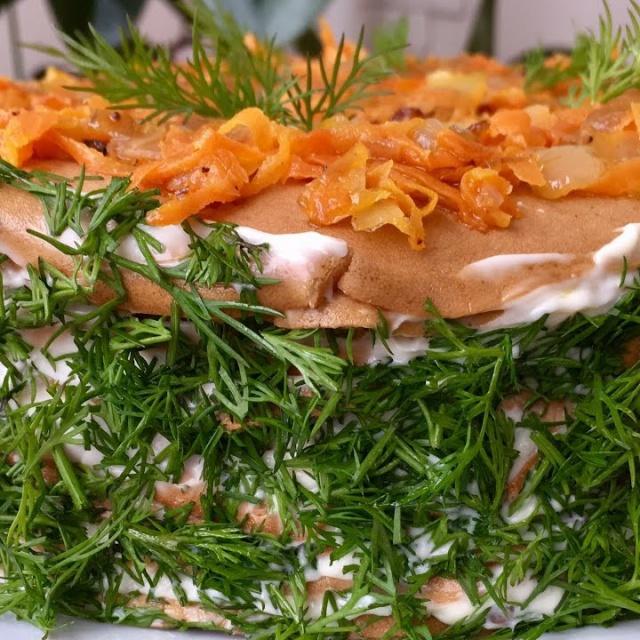 Ольга Матвей - Как приготовить печеночный торт из куриной печени