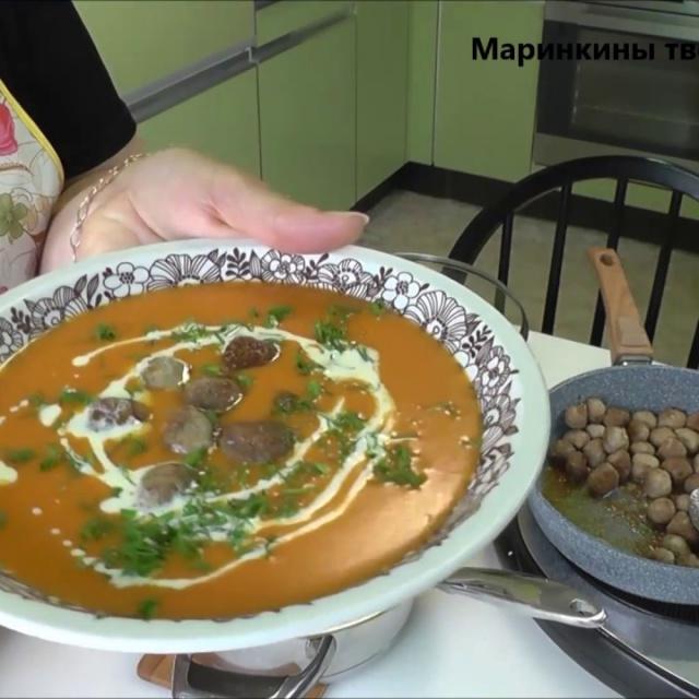 Овощной суп с фрикадельками   Рецепт Маринкины Творинки