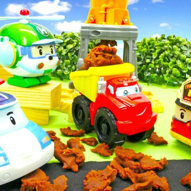 Робокар Поли - Видео с машинками - Беспорядок на дороге