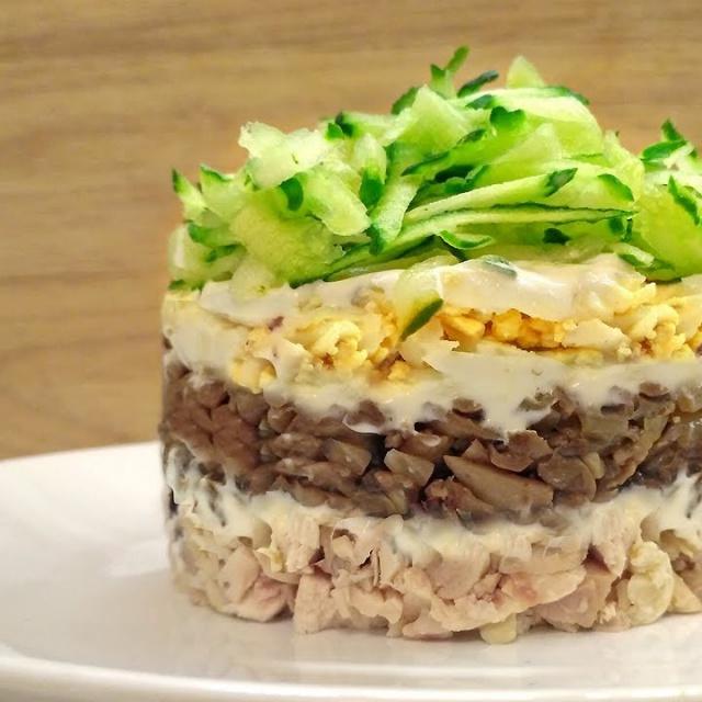 Салат с курицей и грибами | ОЧЕНЬ вкусный салат на праздничный стол