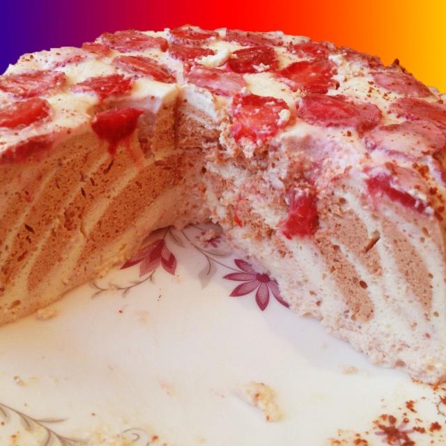 Творожный Десерт с клубникой и желатином