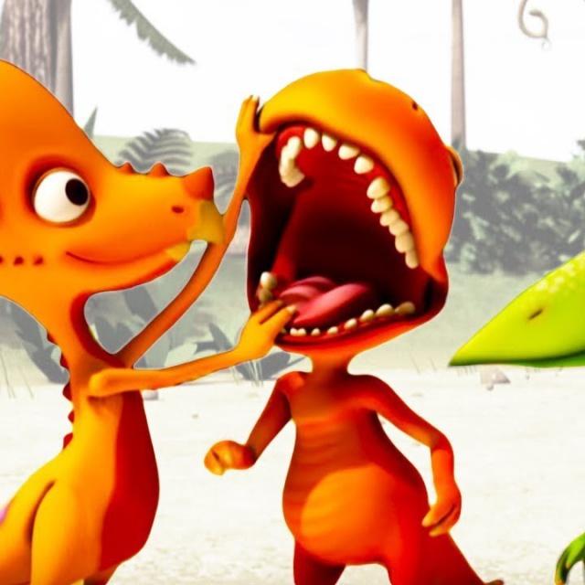 Волшебный ПОЕЗД ДИНОЗАВРОВ   Мультик про динозавров