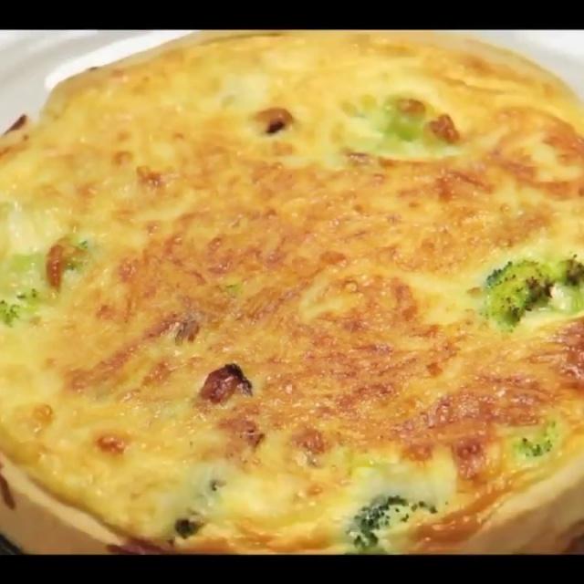 Пирог с брокколи, ветчиной и сыром | Рецепт Лазерсона