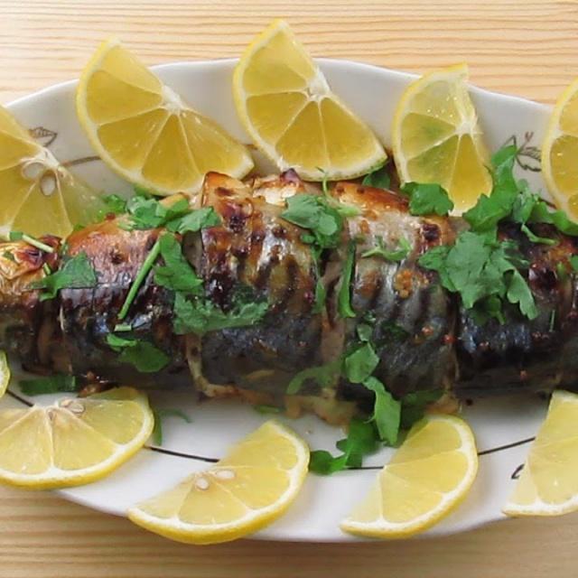 Скумбрия запеченная в духовке /  Mackerel baked in the oven