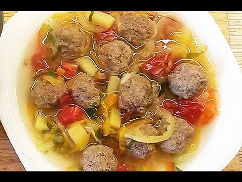 Суп с фрикадельками | Рецепт А. Митрофановой