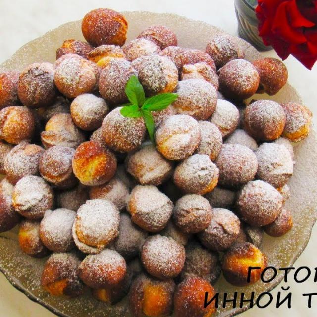 Пончики на сгущенке Рецепт Как приготовить нежные ПОНЧИКИ