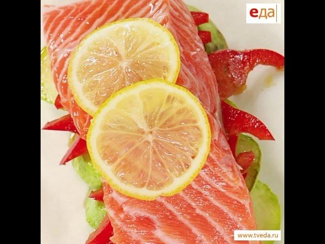 Красная рыба, запечённая в пергаменте / рецепт от шеф-повара / Илья Лазерсон / Обед безбрачия