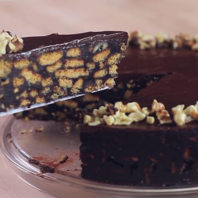 Шоколадный торт из печенья без выпечки |  Дома вкусно и просто