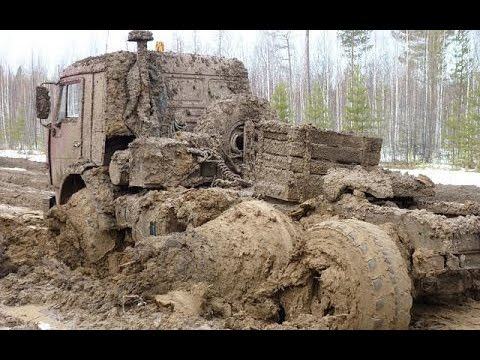 Машины на севере по бездорожью   На русских грузовиках Урал Камаз подборка