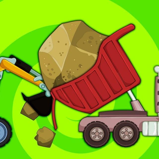 Развивающие и обучающие мультики про машинки - Рабочие Машины - Все Серии Подряд Мультик для Детей