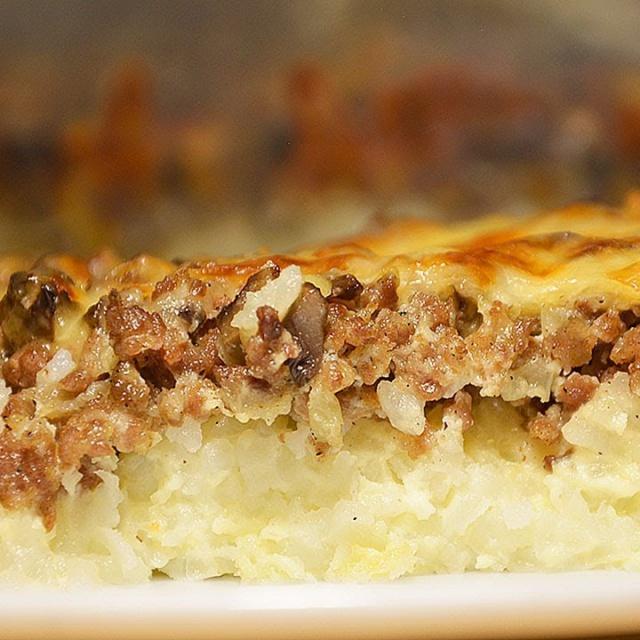 РИСОВАЯ ЗАПЕКАНКА С ФАРШЕМ. Сытная и вкусная запеканка с мясным фаршем и грибами под сырной корочкой
