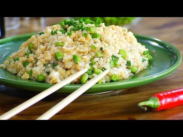 Жареный рис с зелёным горошком и яйцом по-китайски Лазерсон