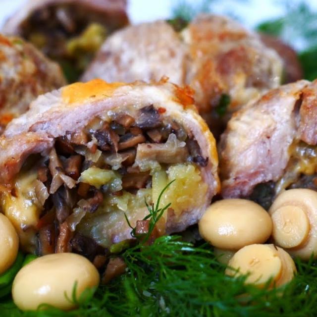 Фаршированное Мясо в Кружке Основное Блюдо Праздничного Стола   Рецепт Ольги Матвей