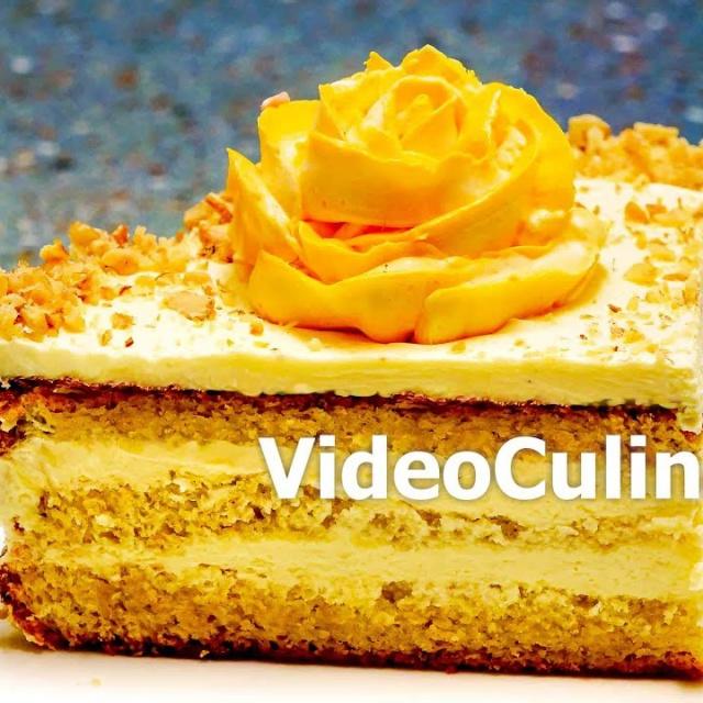 Бисквитный торт Самый простой с заварным кремом - Рецепт Бабушки Эммы