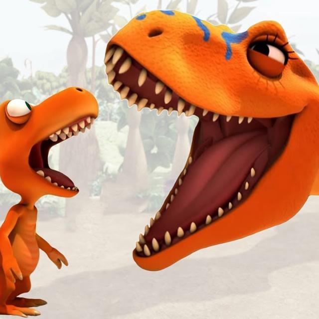 Развивающий Мультик Поезд динозавров | Зубы Тираннозавра