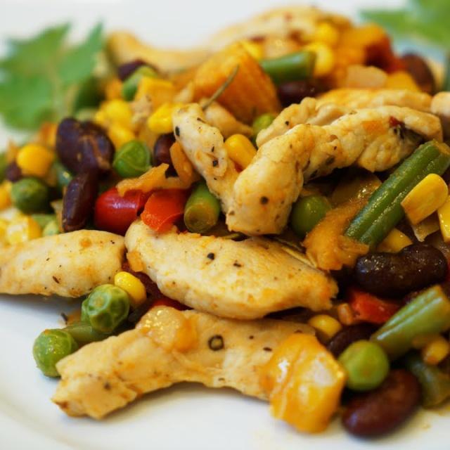Куриное филе с овощами  рецепт диетического блюда