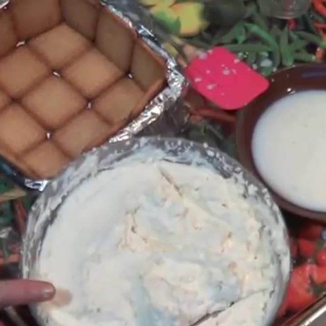 Торт Из Печенья Творога И Сливок -  Десерты Без Выпечки