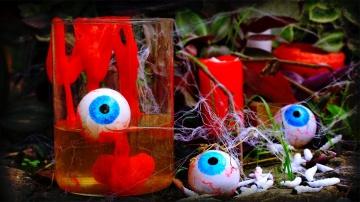Трум Трум  Как сделать глаза, слизь и паутину для Хэллоуина своими руками