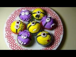 Minion Theme Cupcakes (Muffins) - Маффины с Миньонами (сахарная мастика)