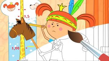 Про уборку - убери игрушки - Мультик Раскраска Жила была Царевна - Учим цвета обучающее видео