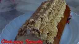 Домашний Шоколадный Рулет с Кофейным Кремом/Chocolate Roll | Рецепт Светланы Черновой