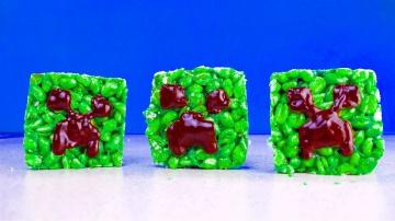 МАЙНКРАФТ КРИПЕР ИЗ МАРШМЭЛОУ. Как сделать Minecraft КРИСПИ