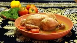 Курица тушённая в казане - Рецепт Бабушки Эммы