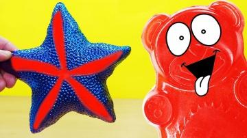 Морская звезда и желейный медведь Валера