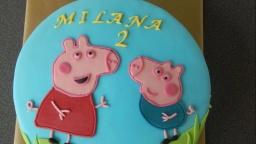 "торт ""Свинка Пэппа"" /Peppa Wutz Fondant Torte"