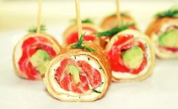 Блинчики с лососем, сливочным сыром и авокадо ✌ Легкие Закуски - Salmon & Cream Cheese Pancake