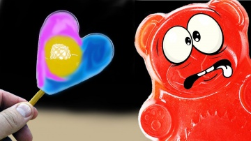 Цветная яичница (полная версия) и желейный медведь Валера