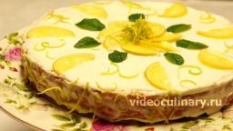 Лимонный торт из слоеного теста - Рецепт Бабушки Эммы