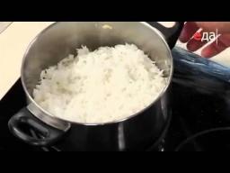 Отварной рис с куркумой по-азербайджански рецепт от шеф-повара / Илья Лазерсон