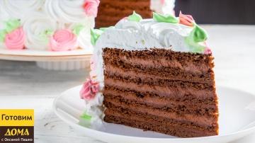 Бесподобный Шоколадный песочный торт со Сметанным кремом