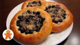 Ватрушки с ягодами на венском дрожжевом тесте |Рецепт
