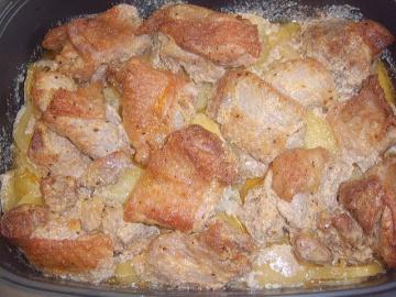 Маринкины Творинки Индюшиное мясо с картошкой