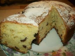 Творожный кекс с изюмом | Рецепт Светланы Черновой
