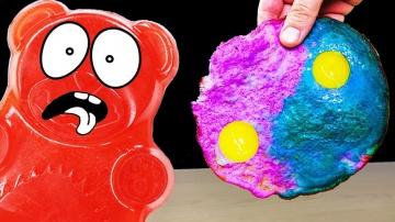 Цветная яичница и желейный медведь Валера