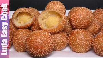 Позитивная Кухня Новый Десерт СУПЕР ПОНЧИКИ китайская (вьетнамская) кухня  - Sesame Balls Recipe - B