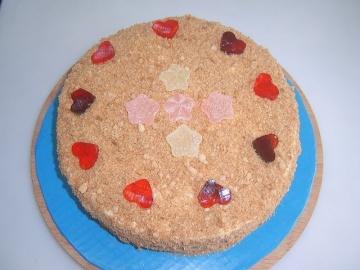 Маринкины Творинки Медовый торт День святого Валентина