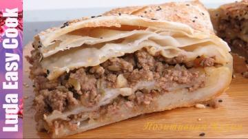 Позитивная Кухня ВКУСНЫЙ СЛОЕНЫЙ МЯСНОЙ ПИРОГ из Пресного Теста - Meat Pie recipe Puff Pastry - bánh