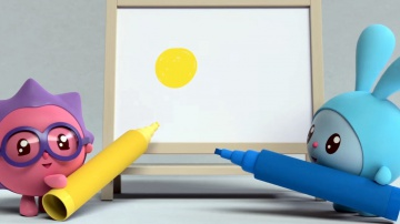 Желтый и синий - Малышарики: Умные Песенки - цвета. Обучающие и развивающие мультики для детей