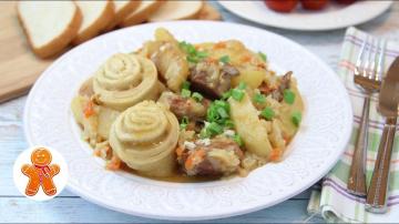 Штрудли с Капустой и Картошкой ✧ Вкусное и Сытное Мясное Блюдо Готовим с Ириной Хлебниковой
