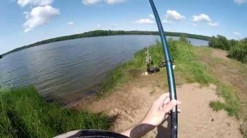Ловля леща на поплавочную удочку (видео-отчет) рыбалка июль 2015 Лещ 10 лет спустя