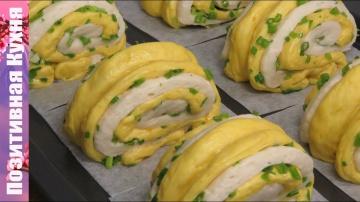 Позитивная Кухня ФАНТАСТИЧЕСКИЕ ПАРОВЫЕ БУЛОЧКИ С ЛУКОМ И ТЫКВОЙ вкусно и красиво   CHINESE STEAMED